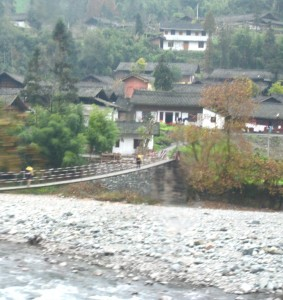 Rope Bridge on the Sichuan-Tibet Hghwy
