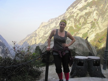 Kristine on Hua Shan Mountain