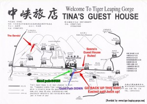 Map Tiger Leaping Gorge