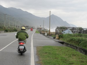 Scooting down Highway 11, Taiwan