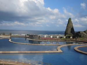 Jhaorih salt water hot springs on Green Island