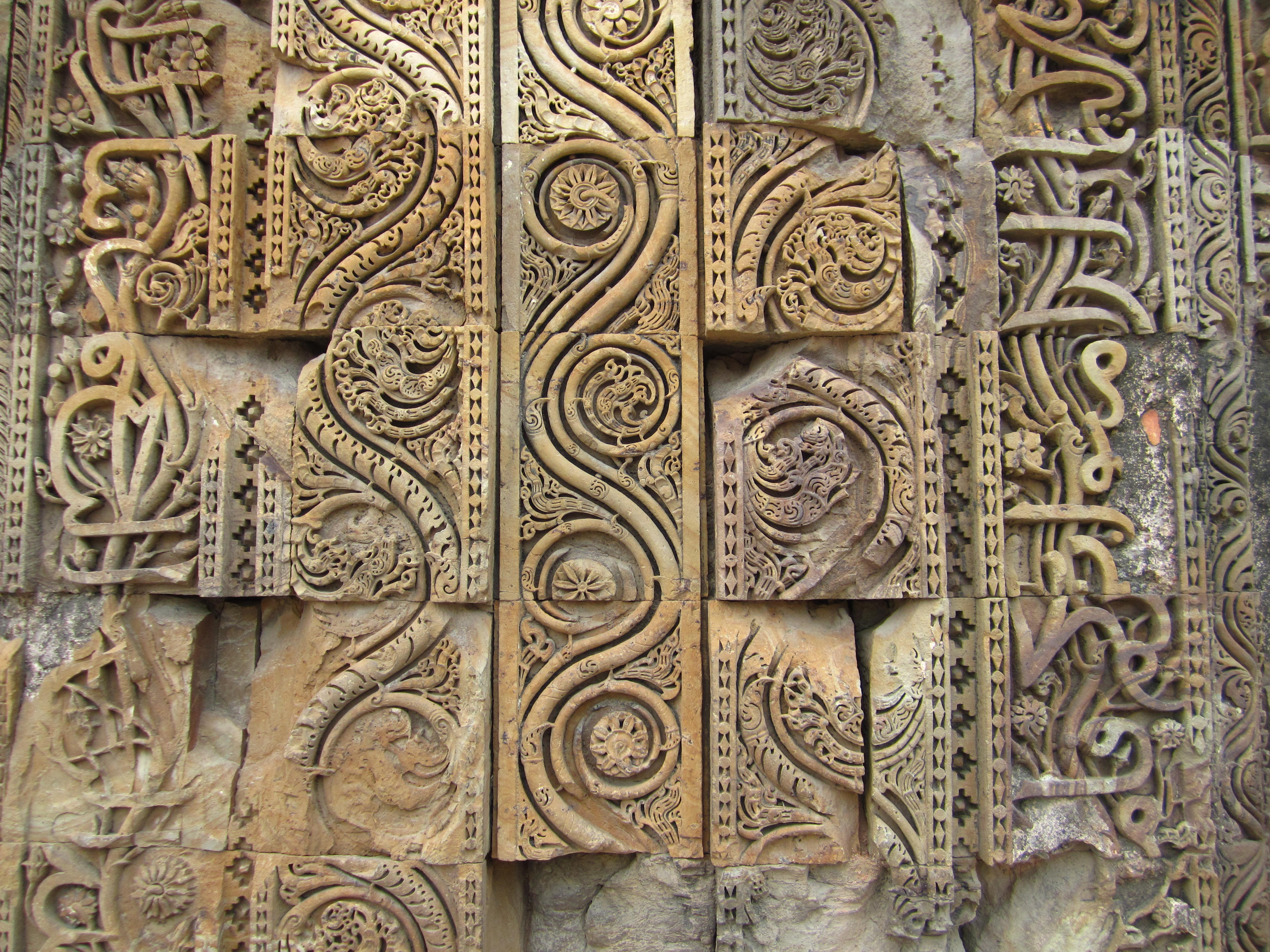 Stone carving cemento armato precompresso