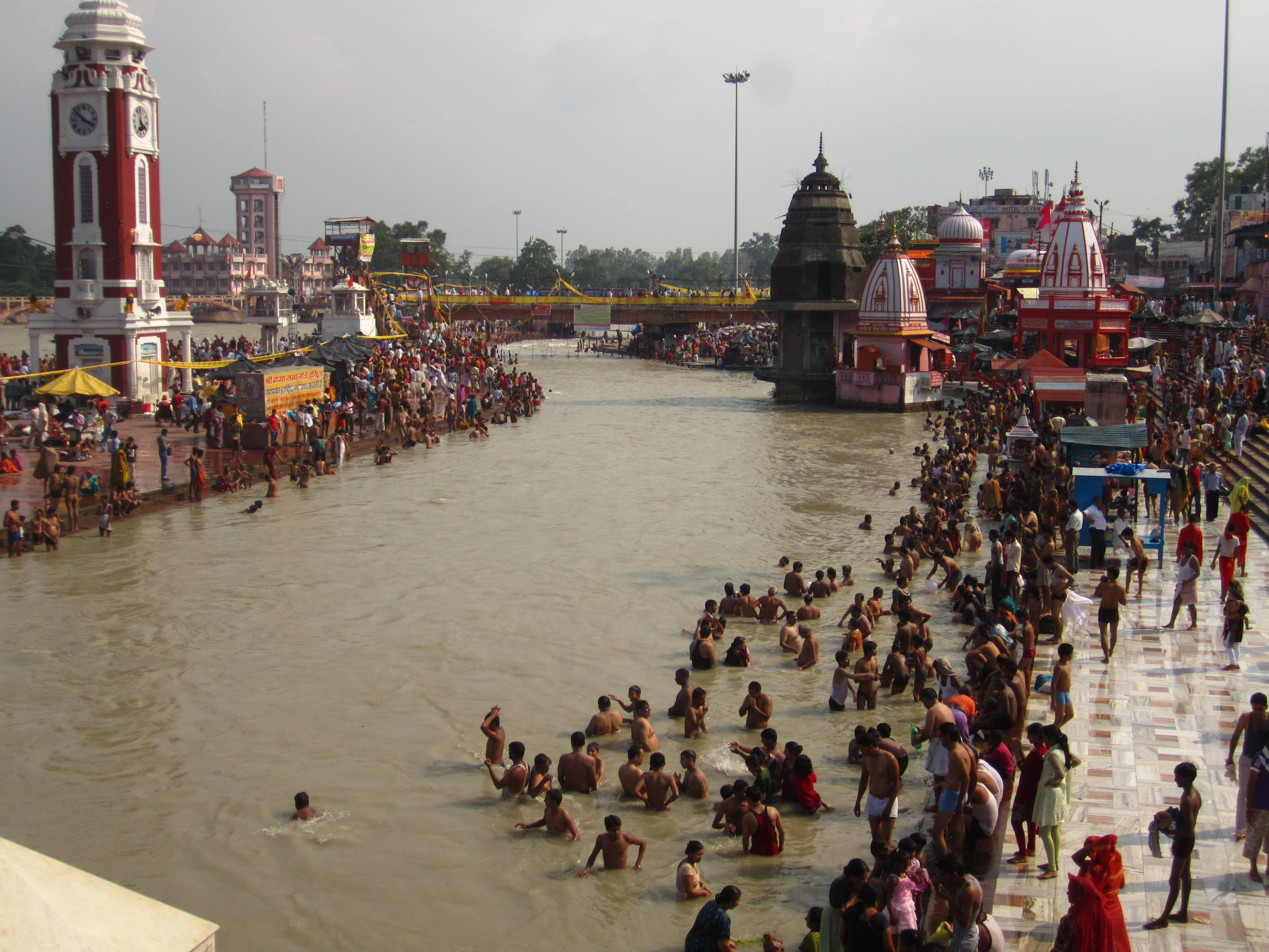 A dip in the Ganges
