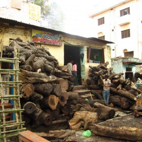 Wood at the cremation ghat