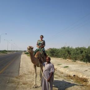 Kris on a camel