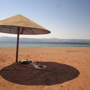 Chillin at the Red Sea in Aqaba