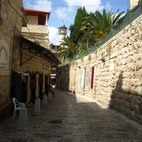Via Dolorosa (where Christ carried the cross)