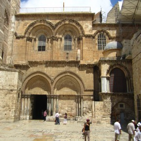 Site of Christ's cruxification and entombment