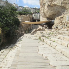 Shiloh pool - where jesus healed the blind man